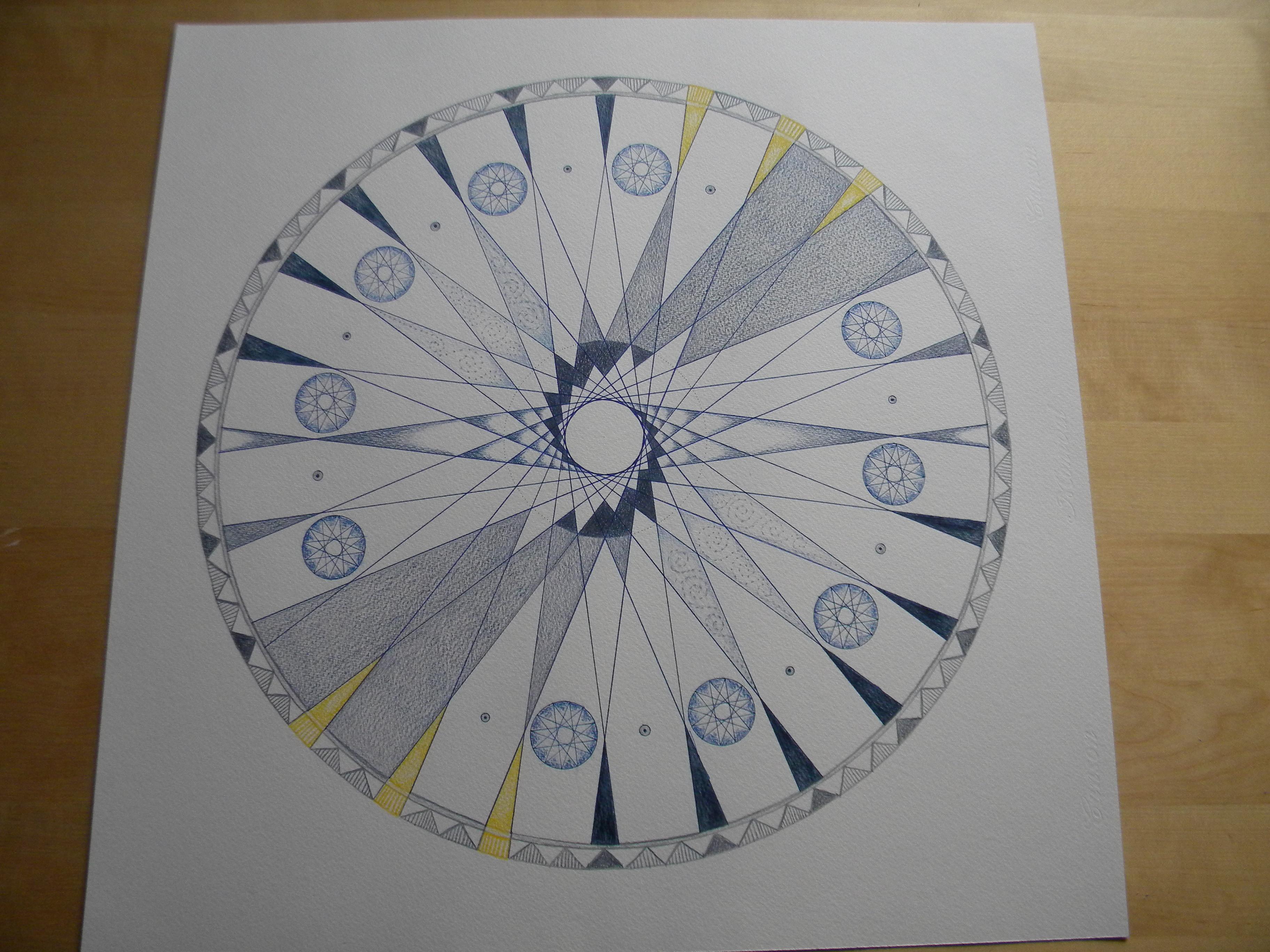 Bedwelming derde oog chackra (zesde chakra) | mandalaplezier #TC44